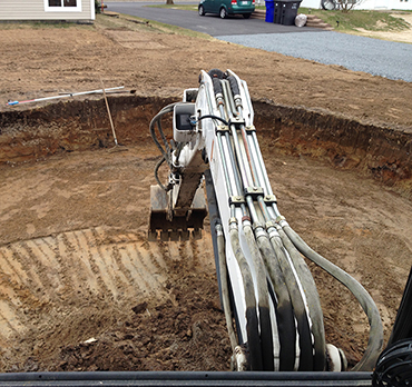 R alisations excavation epl mini excavation experts - Combien coute une piscine semi creusee ...
